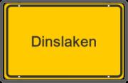 Ortsschild von Dinslaken - das Einsatzgebiet für die Rohrreinigung mit Notdienst